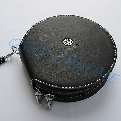 Leather DVD CD Storage Wallet Cover Pocket Case For VW Volkswagen Accessories