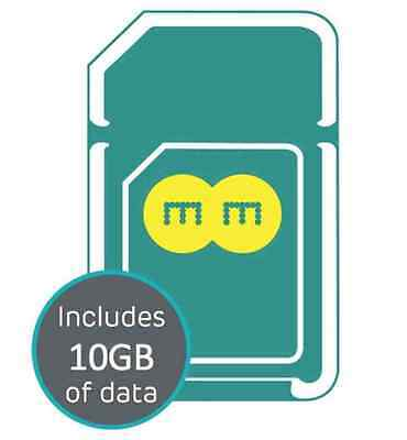 EE 4G Trio SIM Card Preloaded With £10 And 10GB Data for 30 Day