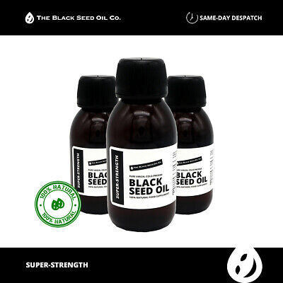 EXTRA STRONG Black Seed Oil - 100ml bottle - Cold Pressed - Black Seed Oil Co
