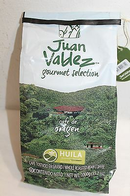 Juan Valdez Gourmet Huila Whole Roasted Bean BIG Coffee 1000g,35.2 oz New
