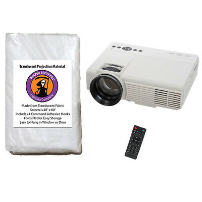800 x 480 LED Video Projector + Rear Projection Screen for AtmosFearFX Videos