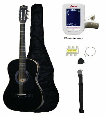 "Crescent MG38-BK 38"" Acoustic Guitar Starter Package, Black (Includes Crescen..."