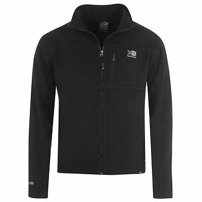 Mens Black Karrimor Zip Up Funnel Neck Walking Heavy Weight Fleece Jumper Top
