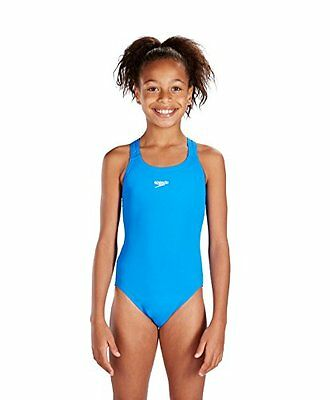 Speedo End+ Medalist 1-Pce Grls Costume da Bagno Junior, Blu, 26 UK (8 anni)