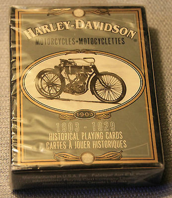 Harley Davidson Historical Playing Cards 1903-1929 ! New In Package 1998 +