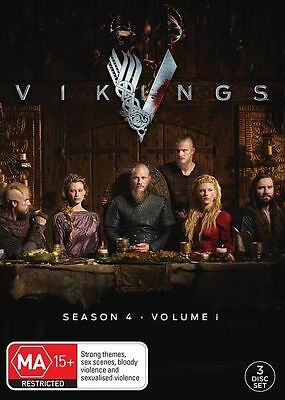 Vikings : Season 4 : Part 1 (DVD, 2016, 3Disc Set) (Region 4) Aussie Release