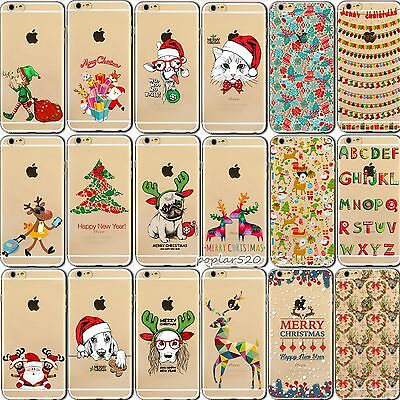 iPhone 7 Case Cover Christmas TPU Skin Printed Pattern For Apple 4 5 6Plus 7plus