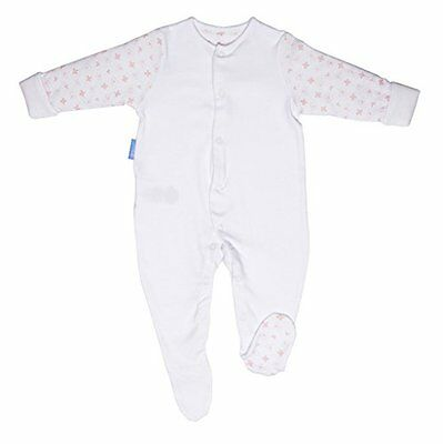 GroSuit BBA14403 Pink Hearts Twin Pack Pigiama, Multicolore, 0-3 Mesi
