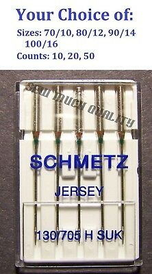 NEEDLES BALL POINT JERSEY 130/705 HB Riccar Singer White