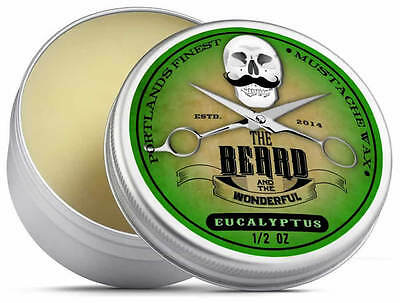 Eucalyptus Moustache Wax (15ml) Premium Strong for styling, twists & curls