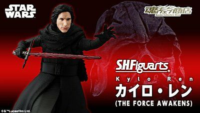 BANDAI S.H.Figuarts KYLO REN The Force Awakens Action Figure Star Wars NEW 2016