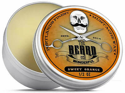 Sweet Orange Moustache Wax (15ml) Premium Strong for styling, twists & curls