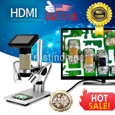 Andonstar ADSM201 Microscope 3MP 1080P HDMI 10x to 300x for PCB Repair Tool