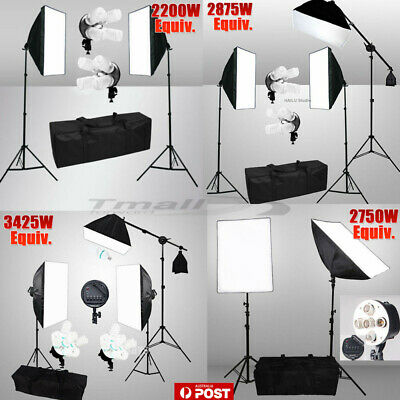 Studio Continuous Lighting Softbox Boom Arm Soft Box Light Stand Photography KiT