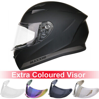 LEOPARD LEO-818 Full Face Motorbike Motorcycle Helmet Bike Gloss Black + Visor