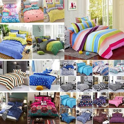 Various Bedding Set Duvet Cover Quilt With Pillow Cases Single Double King Size