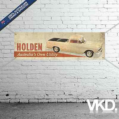 Vintage Look Holden Banner - Man Cave Work Garage Shed Sticker Ute EK Nasco Old
