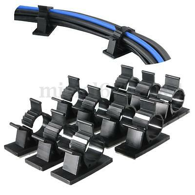 10x 15.4mm Cable Clips Ties Fixer Self Adhesive Cord Wire Organizer Wire Holder