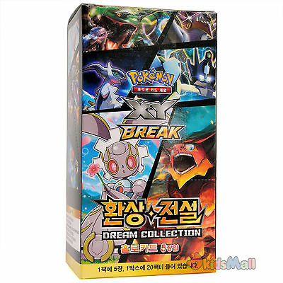 Pokémon XY Mythical Legendary Dream Collection Korean Booster Pack 100 Cards Box
