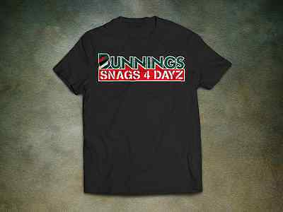 Bunnings Snags T-Shirt - Beer Funny Bogan Ute Sausage Hardware BBQ 4 Dayz Party