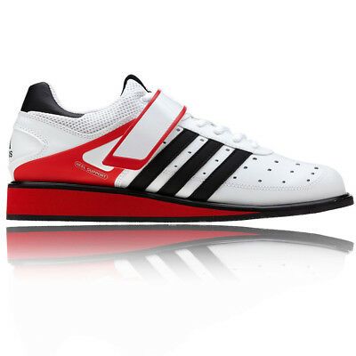Adidas Power Perfect II Mens Womens White Weightlift Sports Training Shoes New
