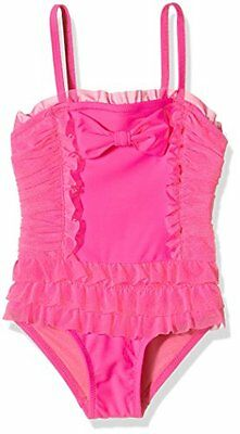Angels Face Hollywood Bathing Suit, Nuoto Bambina, Rosa (Neon Pink), 6-7 Anni