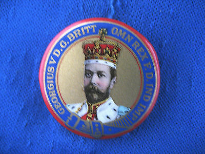 """""""King George V Coronation"""" Pinback Button / Magnificent color"""