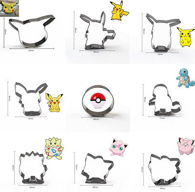Pokemon go Pikachu Cake Mold Pastry Baking Metal Stainless Steel Cookie Cutter