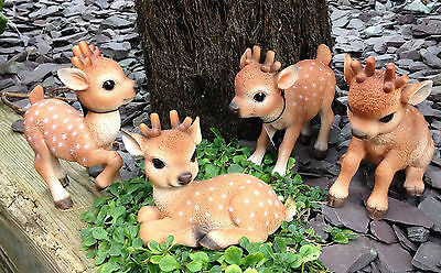 Reindeer Ornament Collection Set of 4  Christmas Xmas  Vivid Arts Indoor Out