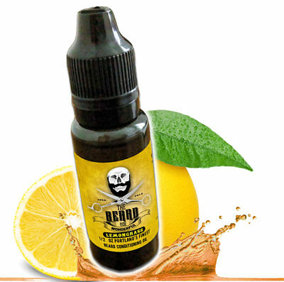 Lemongrass Beard Oil and leave in conditioner Premium Blend 1/2 Oz Bottle