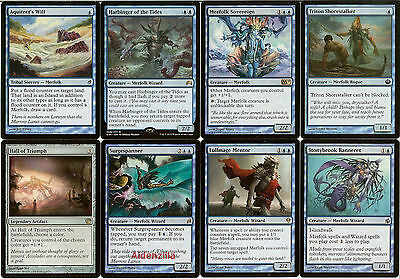 MTG Merfolk (Blue) Deck - Harbinger of Tides, Merfolk Sovereign, Magic Gathering