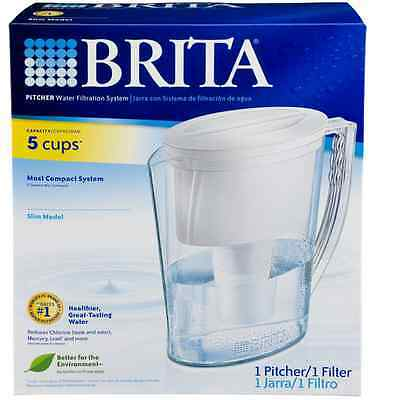 Brita Slim Water Filter Pitcher - 5 Cup - With 1 Filter