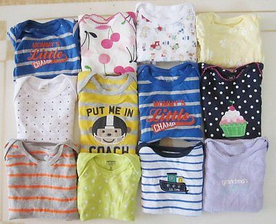 100 Pieces of Newborn Infant Baby Bodysuits Onesie Children Clothing 100% Cotton