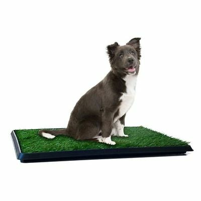 Puppy Potty Trainer Indoor Training System Pet Dog Grass Pad Pee Mat Patch Turf