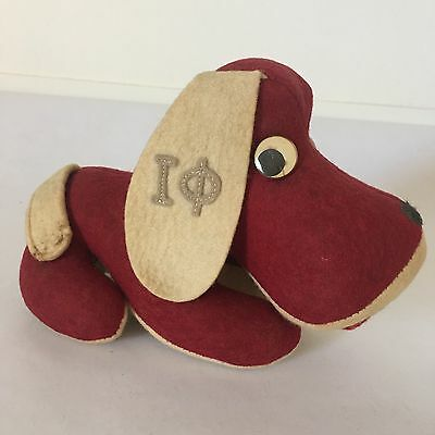 Personality Pet Dog Collegiate 7in Iota Phi Theta Fraternity Vintage Wool Maroon