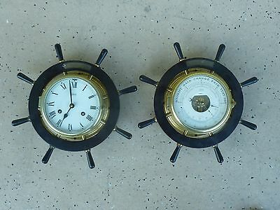 Vintage Schatz Ships Clock And Barometer No Key