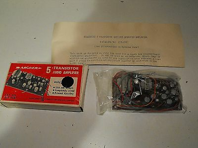 "Archer Radio Shack 5 Transistor Audio Amplifier ""New Old Stock"" Display Or Use"
