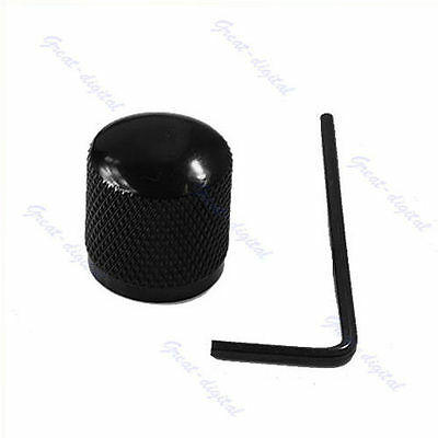 Black Metal Dome Tone Guitar Bass Control Knob For Fender Tele New