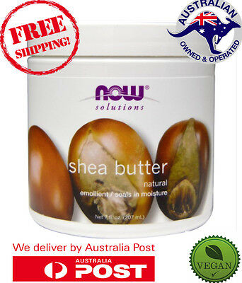 Now Foods Solutions - Shea Butter - 207 ml - PURE NATURAL VEGAN SKIN CARE