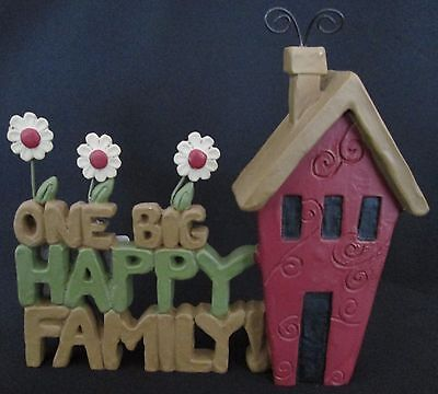 Home Decorative Ornament One Big Happy Family House Decoration Gift Detailed NEW