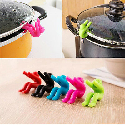 2PCS Silicone Holders Cooking Gadget Spill-proof Lid Kitchen Chopsticks Rest