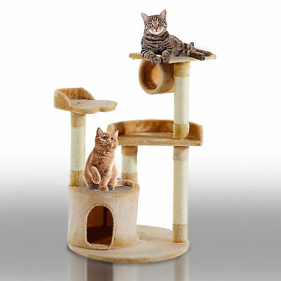 PawHut 38 ″ Cat Tree Condo Furniture Play Toy Scratch Post Kitten Pet House