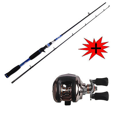 Saltwater Freshwater Fishing Rod with Baitcasting Fishing Reel Combos Tackle Kit