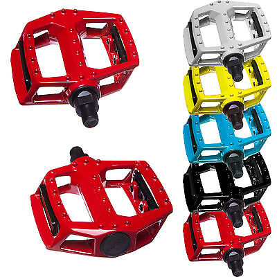 Bicycle Mountain Mtb Bmx Bike Cycling Bearing Alloy Flat-Platfrom Pedals 9/16""