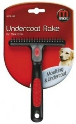INTERPET LTD MIKKI UNDERCOAT RAKE MED/THICK/DOUBLE THICK COAT dog puppy grooming