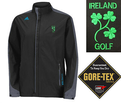 Adidas Golf 3 Stripe Clima Proof Gore Tex 2 Layer Full Zip Waterproof Jacket
