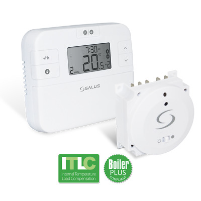 SALUS DIGITAL WIRELESS electronic room stat PROGRAMMABLE THERMOSTAT RT500BC New!