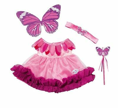 New Zapf Creation Baby Born Wonderland Fairy Dress For Baby Doll Age 3+
