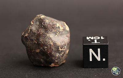 METEORITE NWA XXX, BEST UNCLASSIFIED BLACK CRUSTED STONE 8.1 g