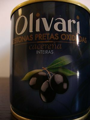 200 GR / 7.05 OZ BLACK WHOLE OLIVES * Product of Spain * Free Shipping